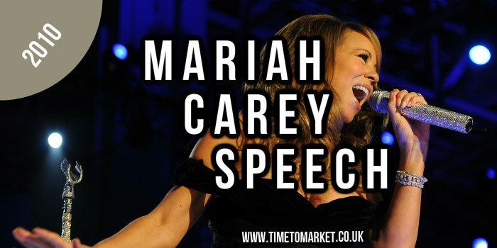 Mariah Carey Speech