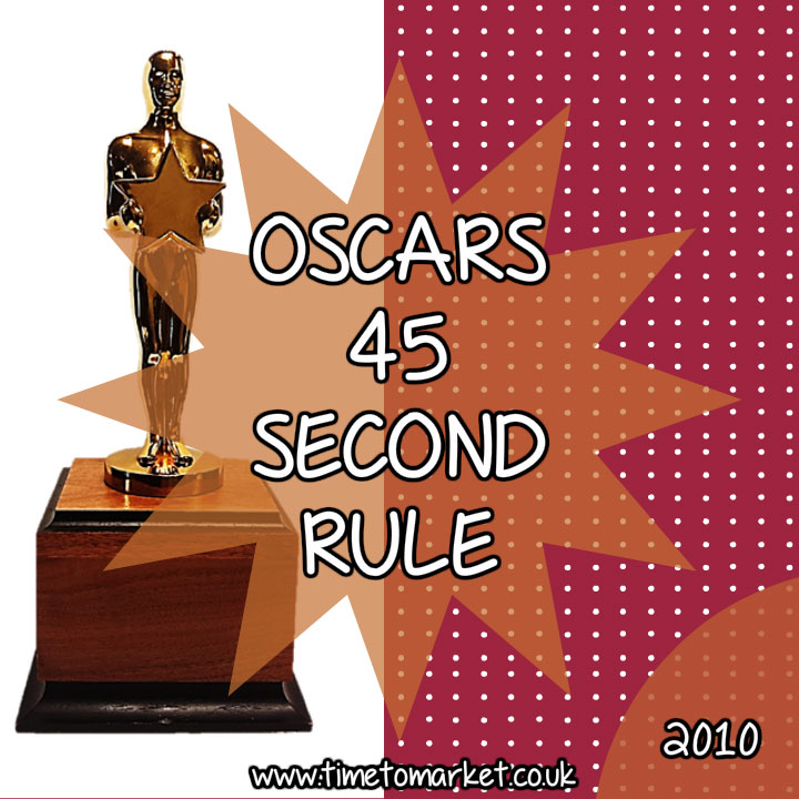 Oscars 45 second rule
