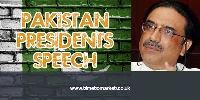 pakistan president speech