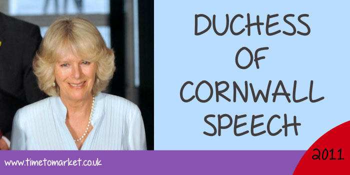 Duchess of Cornwall speech