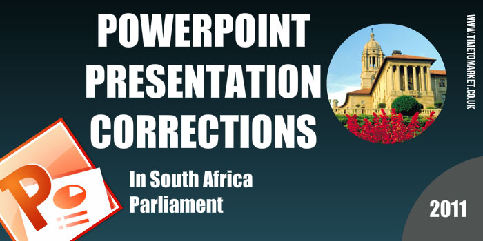 PowerPoint presentation corrections