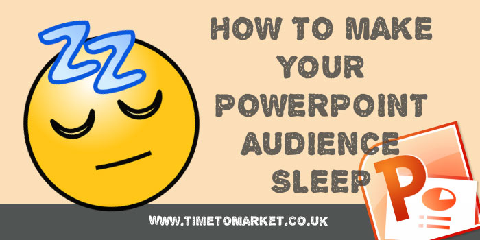 PowerPoint audience sleep