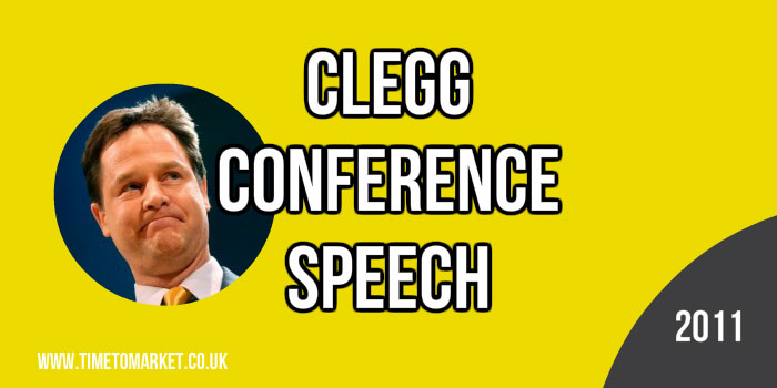 Clegg conference speech