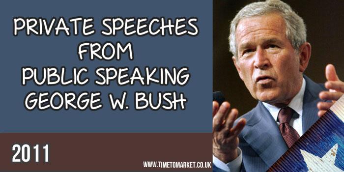 Public speaking George W. Bush