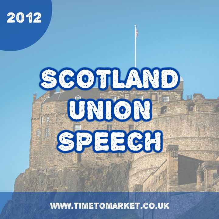 Scotland Union Speech