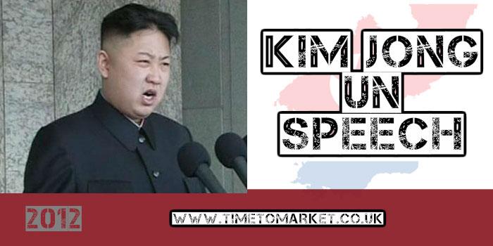 Kim Jong-un speech