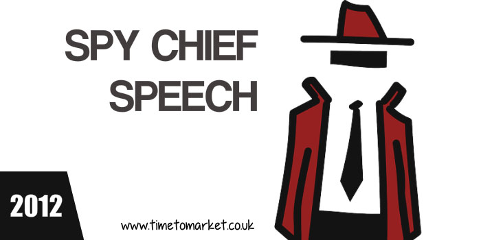 Spy chief speech