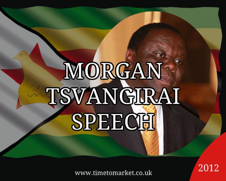 Morgan Tsvangirai speech