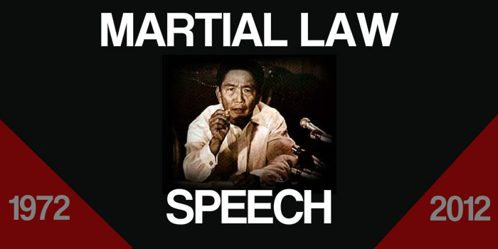 martial law speech