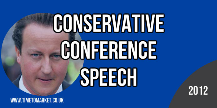 Conservative conference speech
