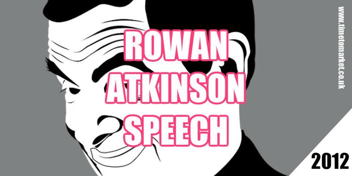 Rowan Atkinson speech