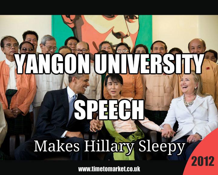 Yangon University speech
