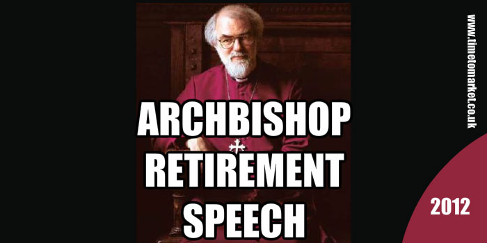 Archbishop retirement speech