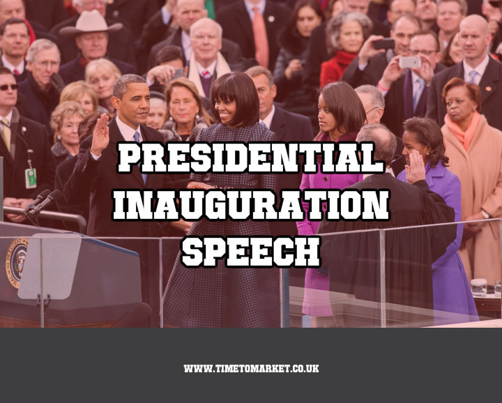 Presidential inauguration speech