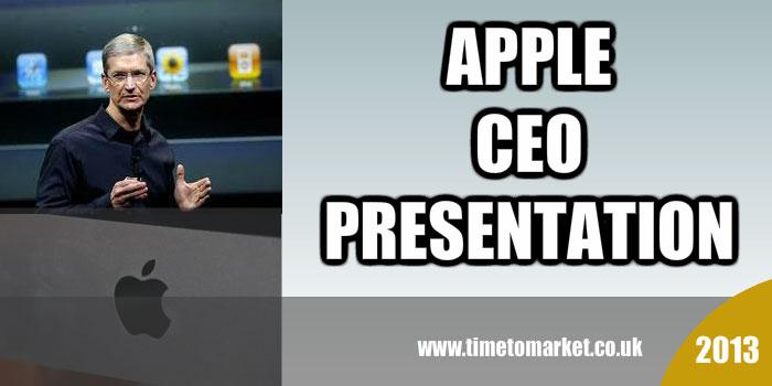 Apple CEO presentation