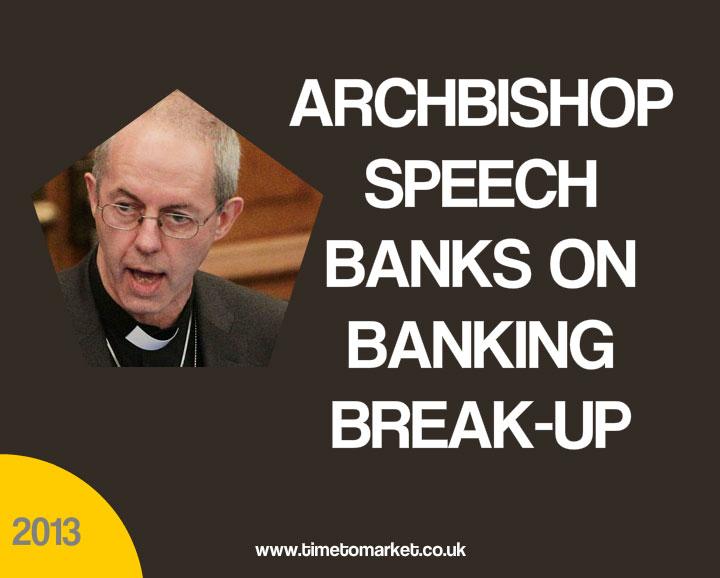 Archbishop speech