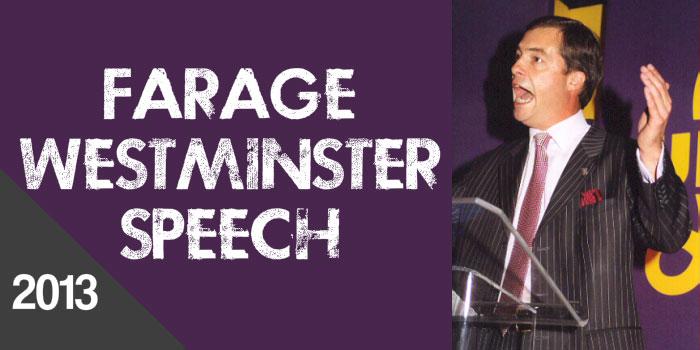 Farage Westminster speech