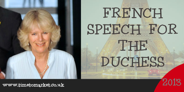French speech for the Duchess