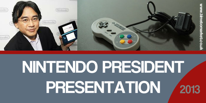 Nintendo president presentation