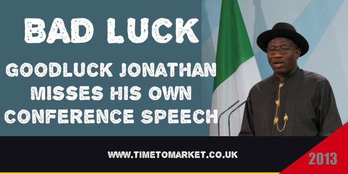 President Jonathan Speech