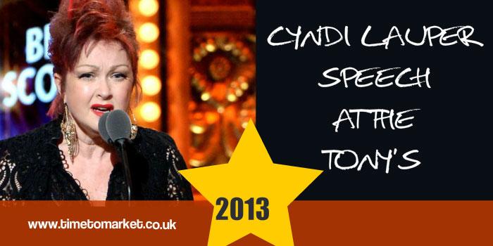 Cyndi Lauper Speech