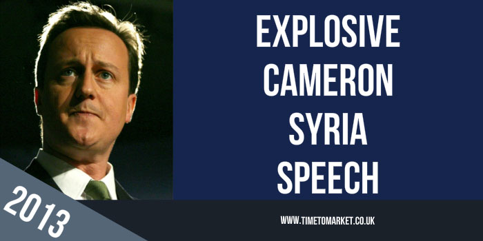 Cameron Syria Speech