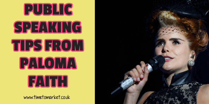 Public speaking tips from Paloma Faith