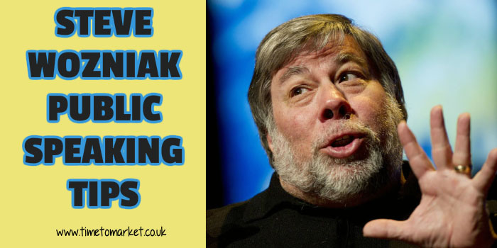 Steve Wozniak public speaking tips