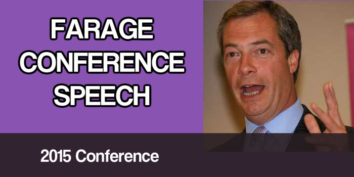 Farage conference speech