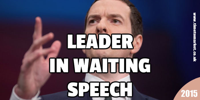 Leader in waiting speech