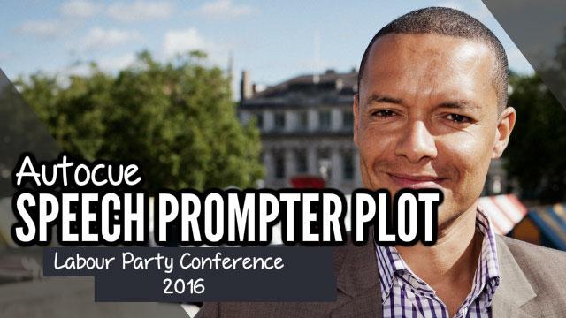 Autocue speech prompter plot