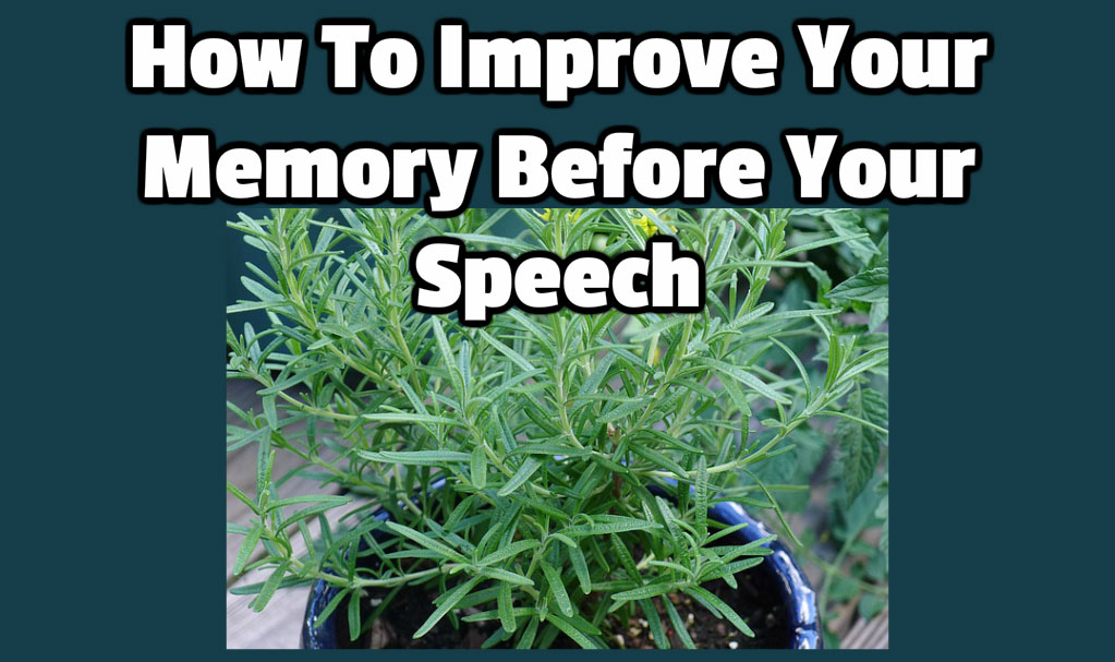 Improve your memory before your speech
