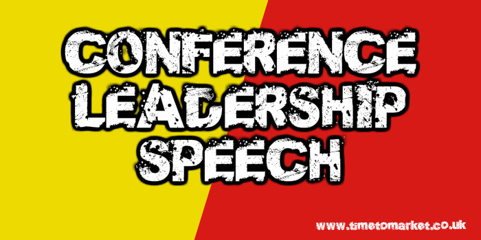 Conference leadership speech