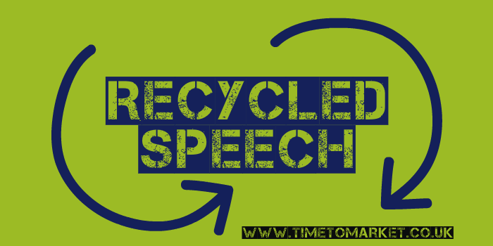 Recycled Speech
