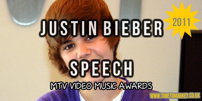 Justin Bieber speech