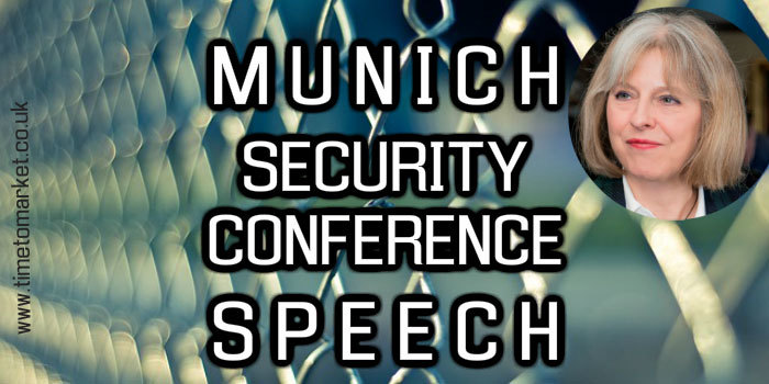 Security conference speech