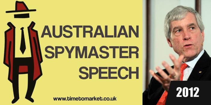 Australian Spymaster Speech