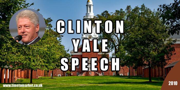 Clinton Yale Speech