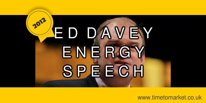 Ed Davey Energy Speech