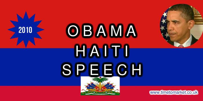 Haiti Speech