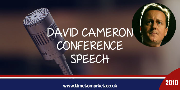 David Cameron conference speech