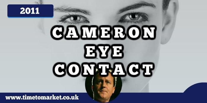 Cameron eye contact