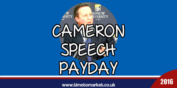 Cameron Speech Payday
