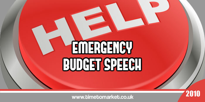 Emergency Budget Speech