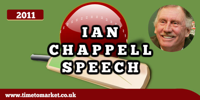 Ian Chappell speech