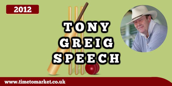 Tony Greig speech