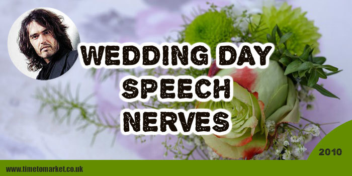Wedding day speech nerves