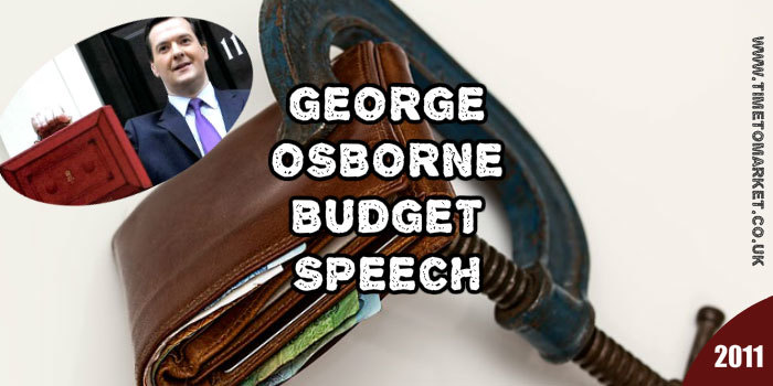 George Osborne budget speech