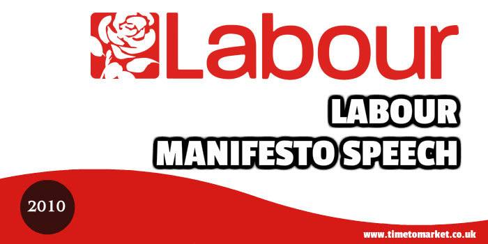 Labour manifesto speech