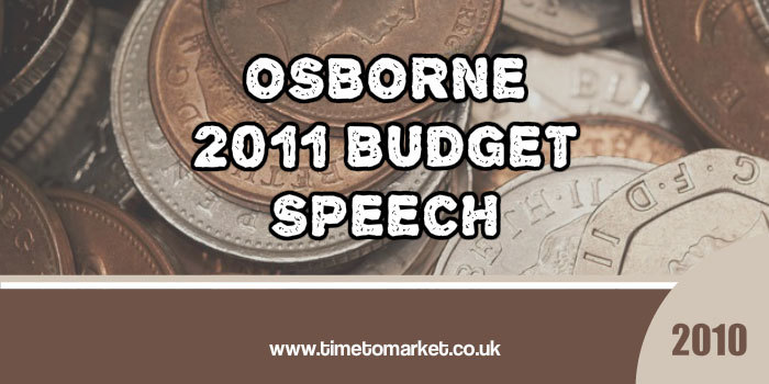 George Osborne 2011 budget speech